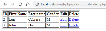 Select data using PHP and MySQL