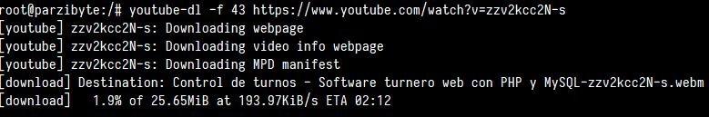 Descargar vídeo de YT en otro formato y resolución