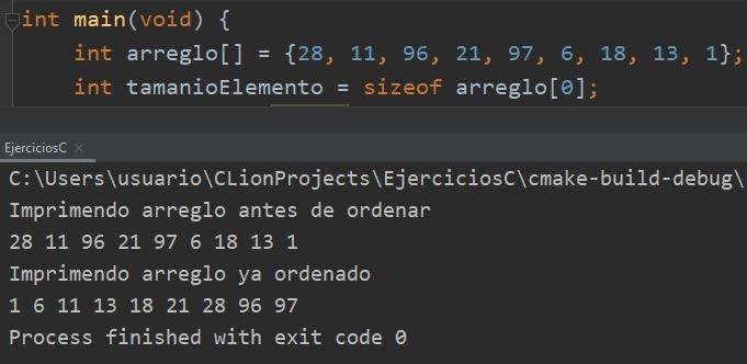 Ordenar arreglo en C usando qsort