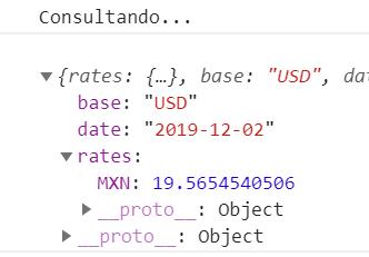 Consultando tipo de cambio con JavaScript y API