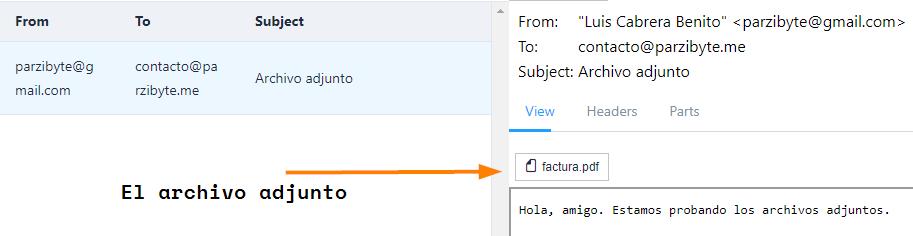 Correo electrónico con adjunto en PHP