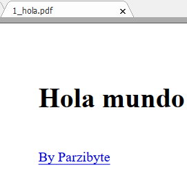 Generar PDF con PHP usando dompdf - Hola mundo