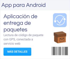 Gestión de paquetes con web service. Lectura con coordenadas GPS y código de barras