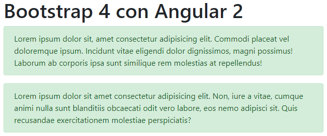 Bootstrap 4 con Angular 2