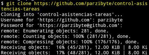 Clonando repositorio de GitHub en Android con Termux