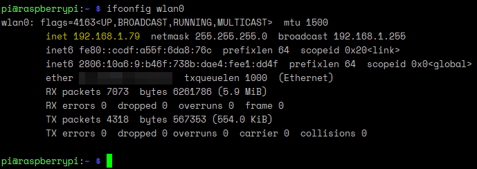 Conexión wi fi de Raspberry pi - comprobar ip