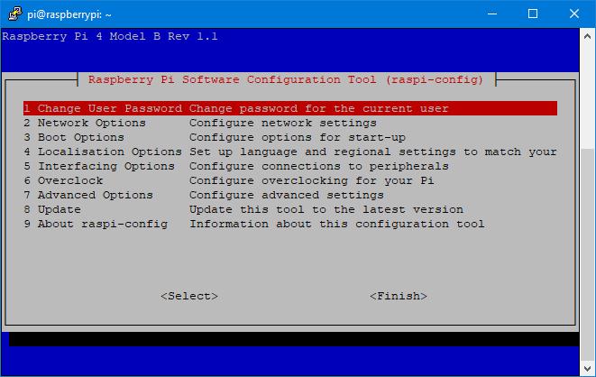 Configurar Raspbian con raspi-config