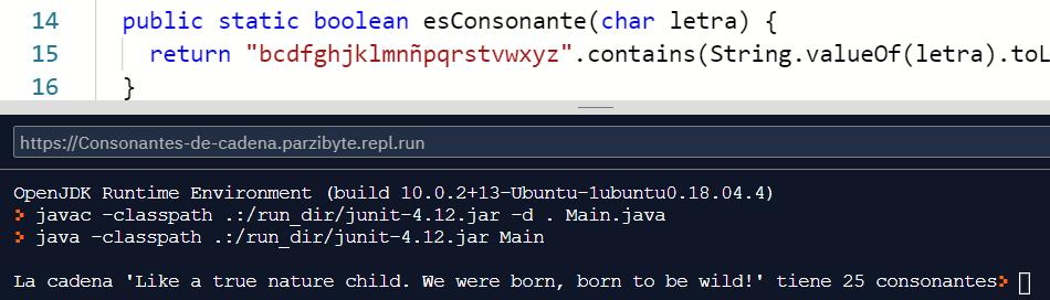Contar consonantes en Java