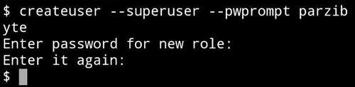 Crear usuario de PostgreSQL en Termux (Android)