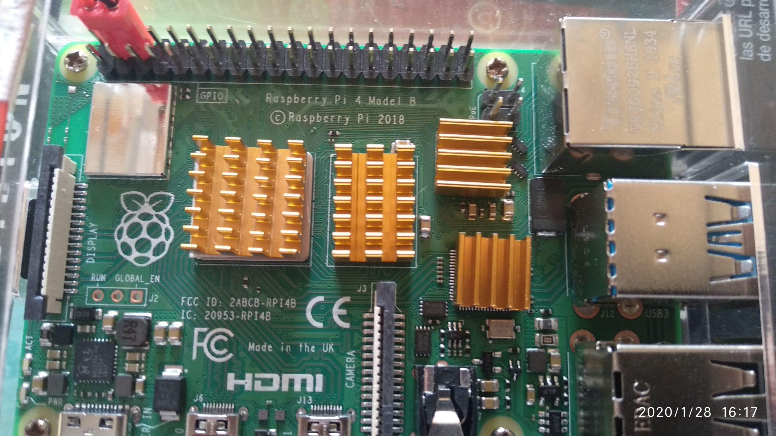 Disipadores de Raspberry Pi 4
