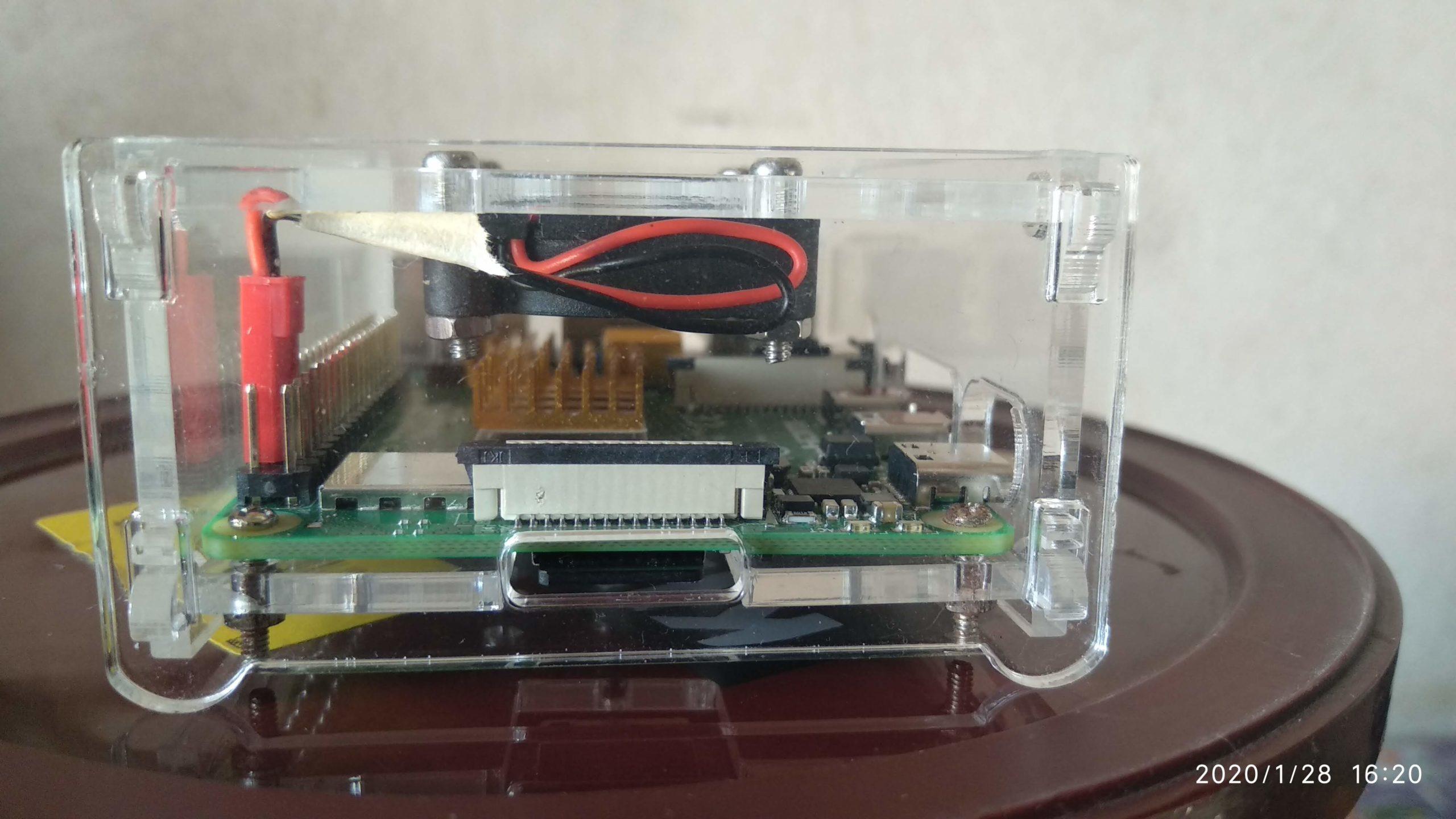 Lado frontal de Raspberry pi 4 - SD