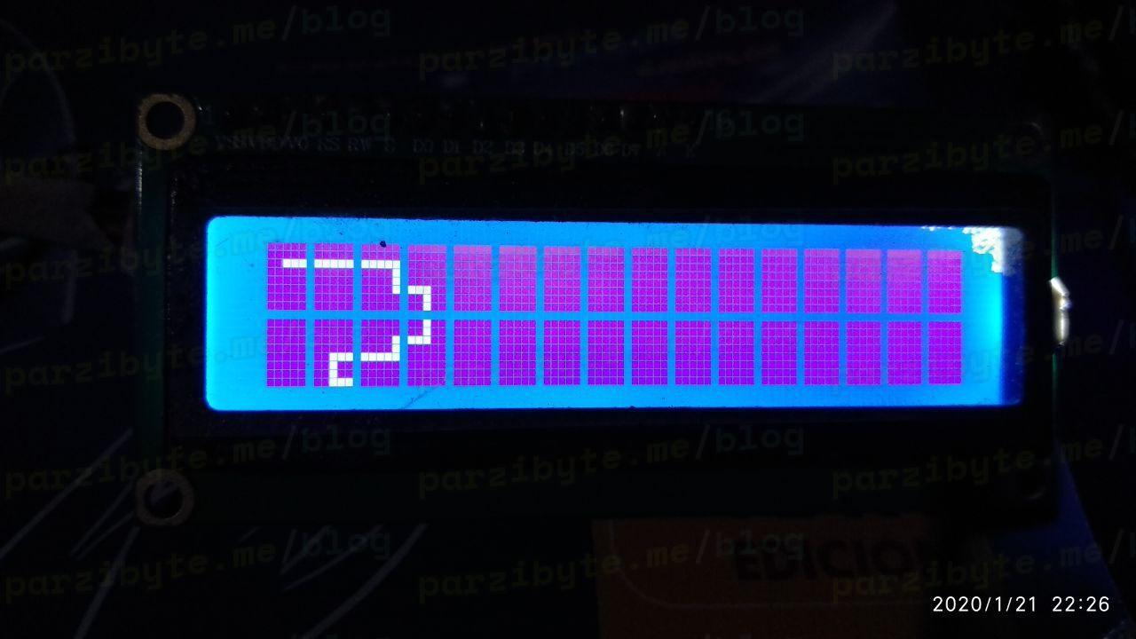 Snake dibujada en LCD usando Arduino