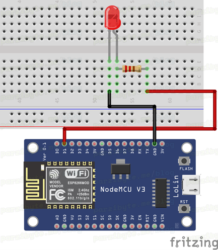 LED con NodeMCU ESP8266_bb