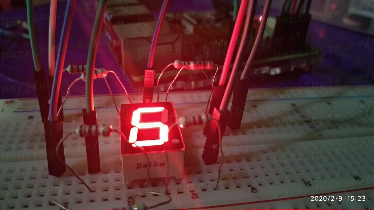 Probando display 7 segmentos con GPIO y Raspberry Pi
