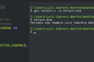 Ejemplo de struct en C