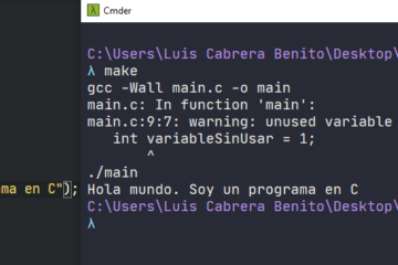 Ejemplo simple de uso de make y makefile