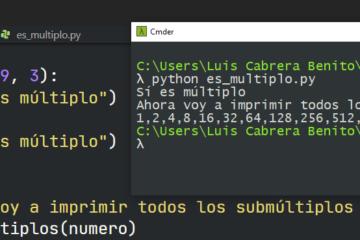 Python - múltiplo y submúltiplo de un número