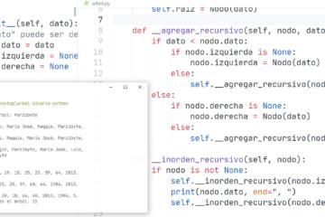 Árbol binario en Python - Estructura de datos