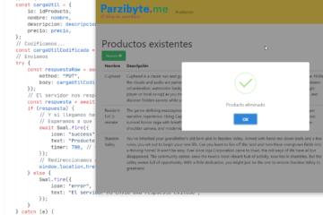 CRUD con MySQL, PHP, JavaScript y AJAX