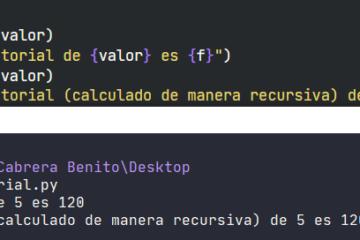 Cálculo de factorial en Python