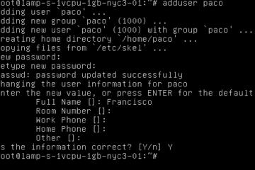 Crear usuario en Linux Ubuntu