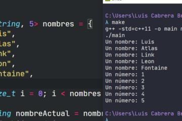 Declarar y recorrer array en C++