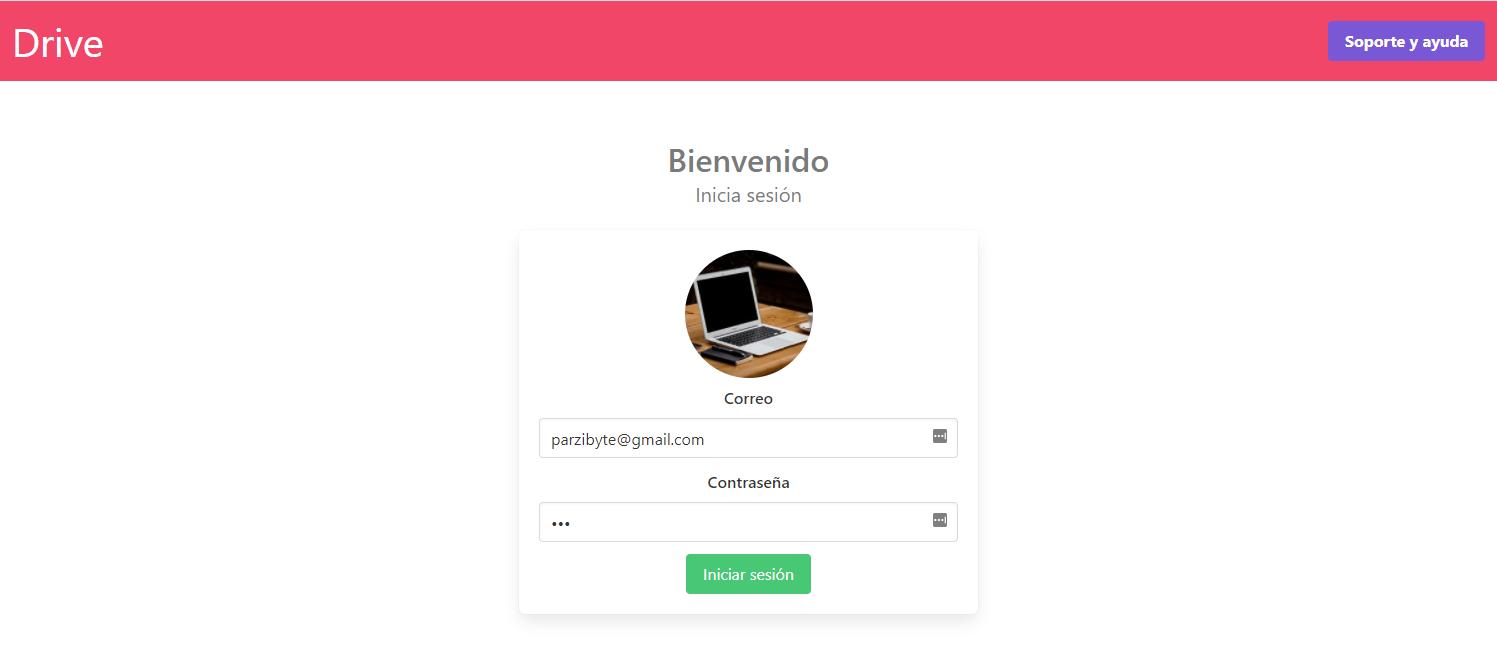 Iniciar sesión en sistema de alojamiento de archivos con PHP