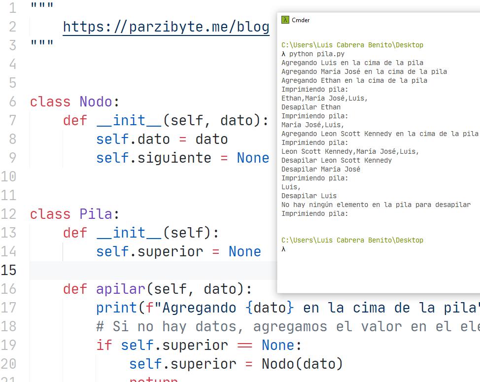 Pila (stack) en Python - Estructura de datos