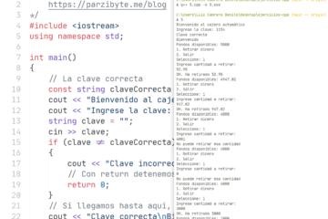 Simulando cajero automático en C++