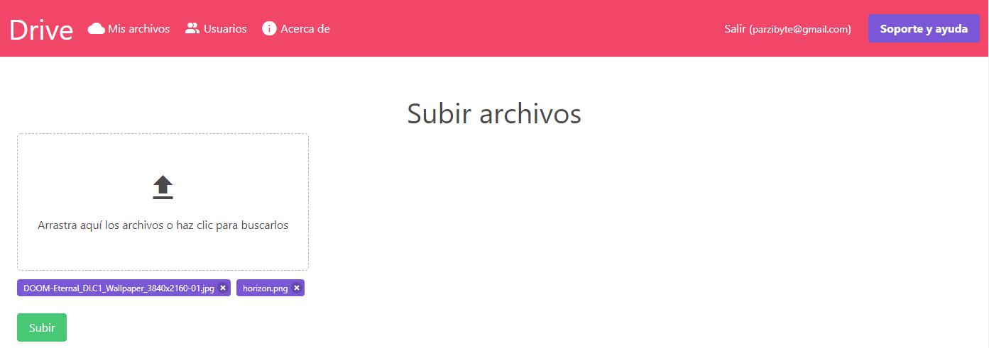 Subiendo archivos al sistema de drive en PHP
