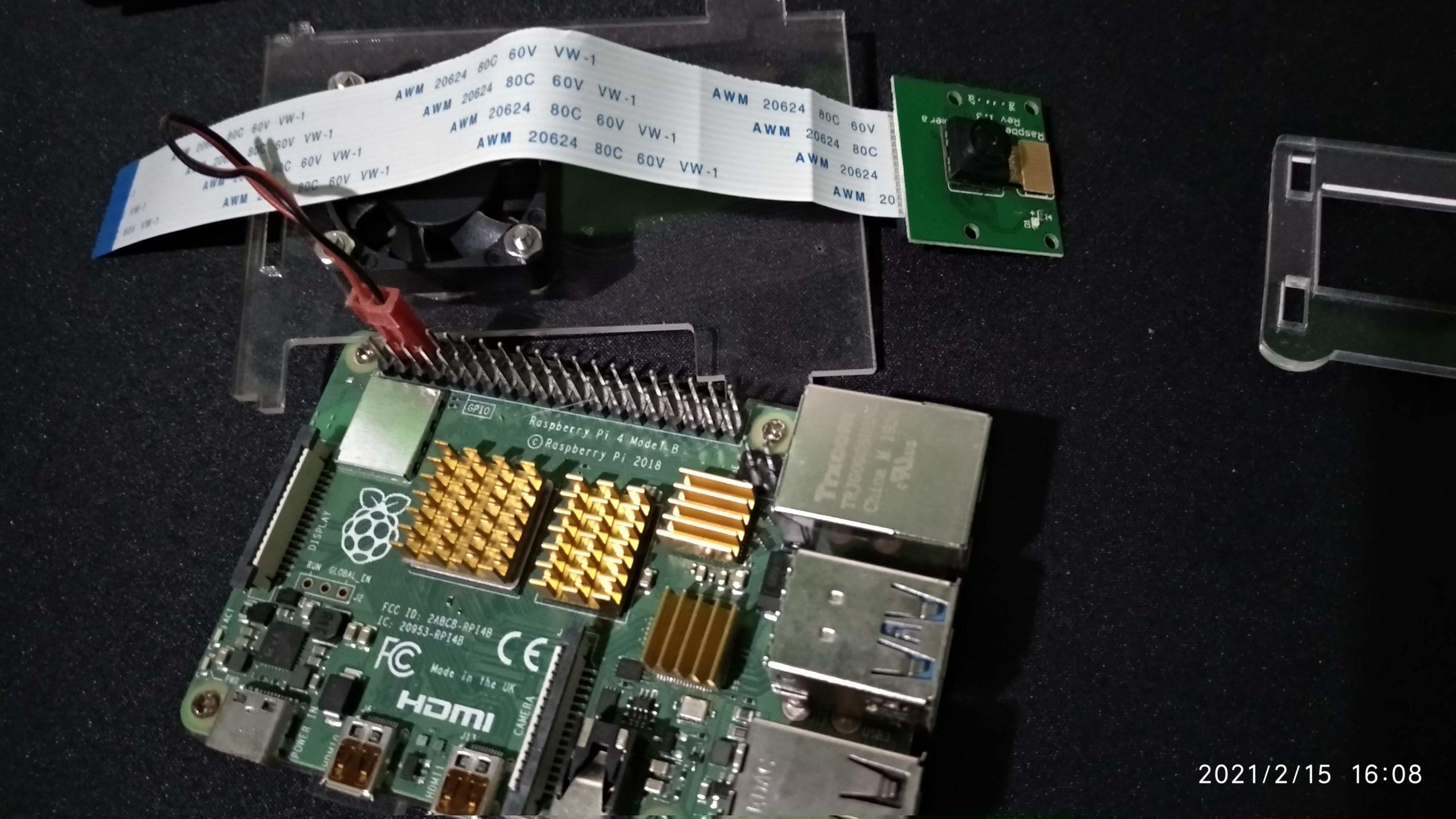 Cámara rev 1.3 y Raspberry Pi 4
