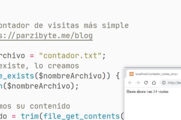 Contador de visitas simple con PHP