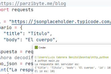 Petición HTTP POST con JSON usando Python y requests