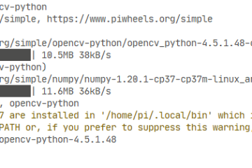 Probando pip en Raspberry pi 4 - Instalando opencv-python