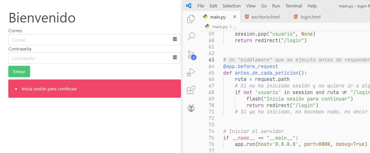 Login e inicio de sesión con Flask y Python