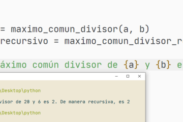 Máximo común divisor en Python