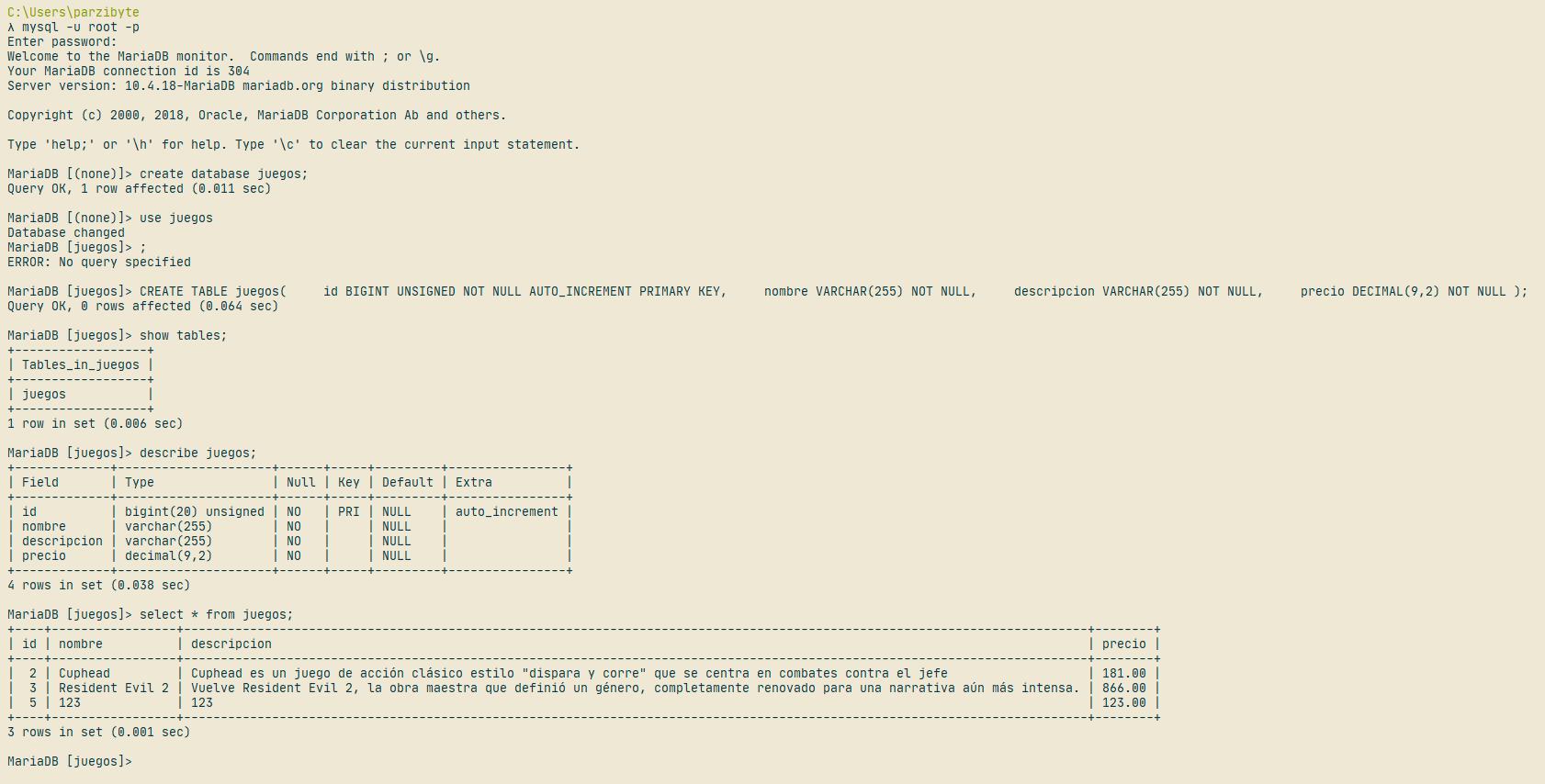 Preparando base de datos MySQL para conectar con Flask