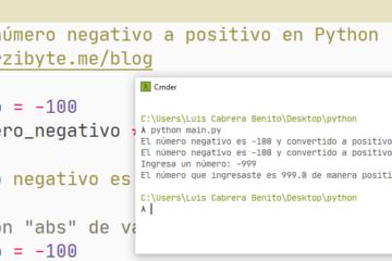 Python - Convertir número negativo a positivo