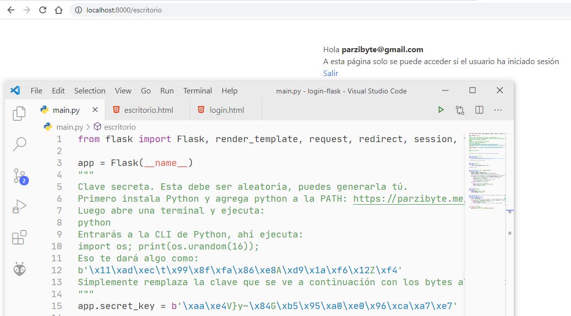 Ruta protegida - Solo usuarios logueados pueden entrar - Programación Flask y Python
