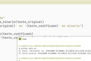 Traductor binario texto en Python - Ejecución del código