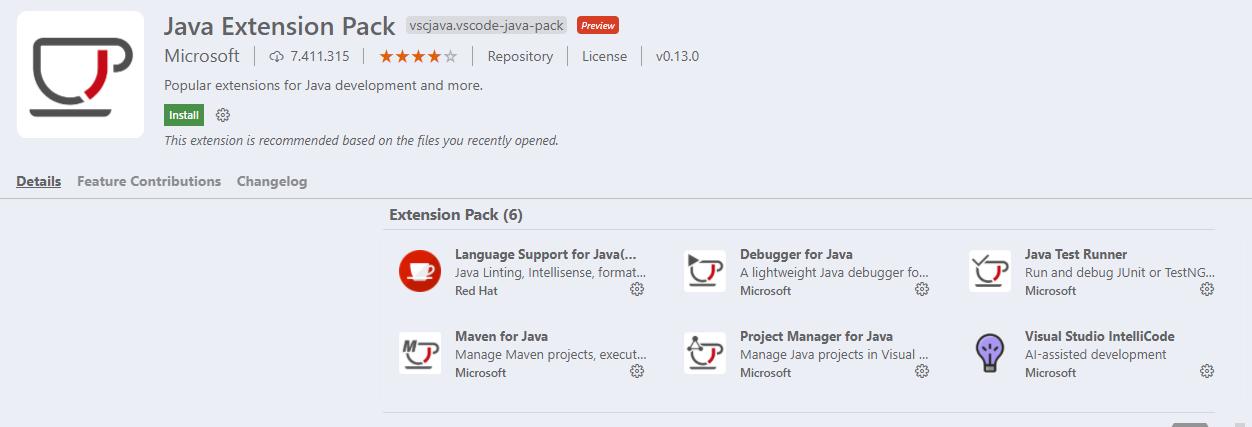 Extensiones para programar en Java usando VSCode