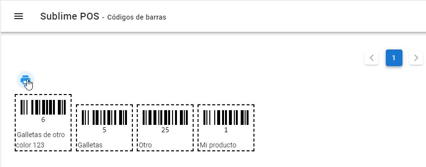 Imprimir código de barras de productos