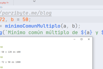 JavaScript - Mínimo común múltiplo de dos números
