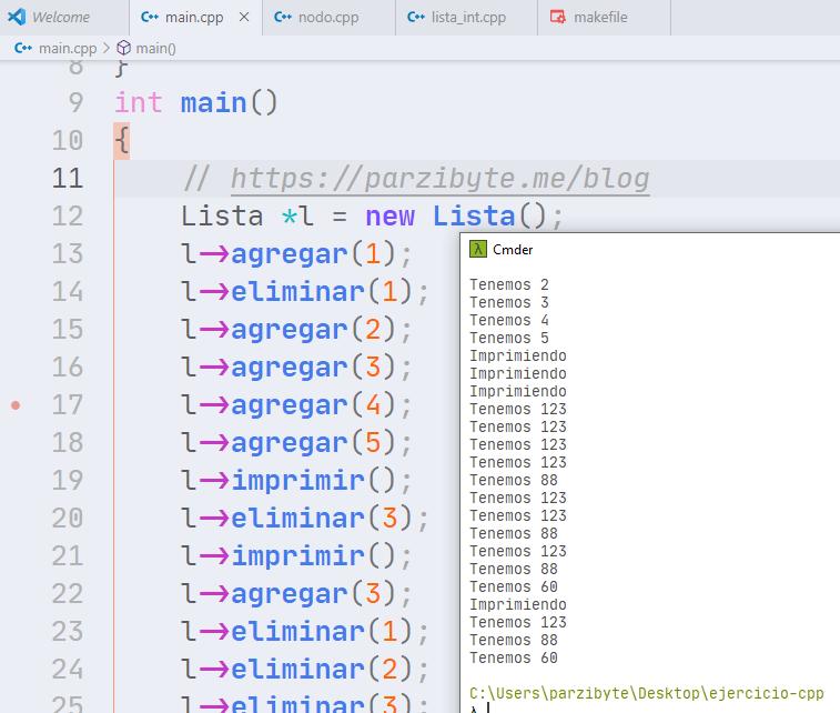 Lista ligada en C++ - Programación y estructura de datos