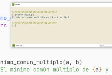 Mínimo común múltiplo de dos números usando Python