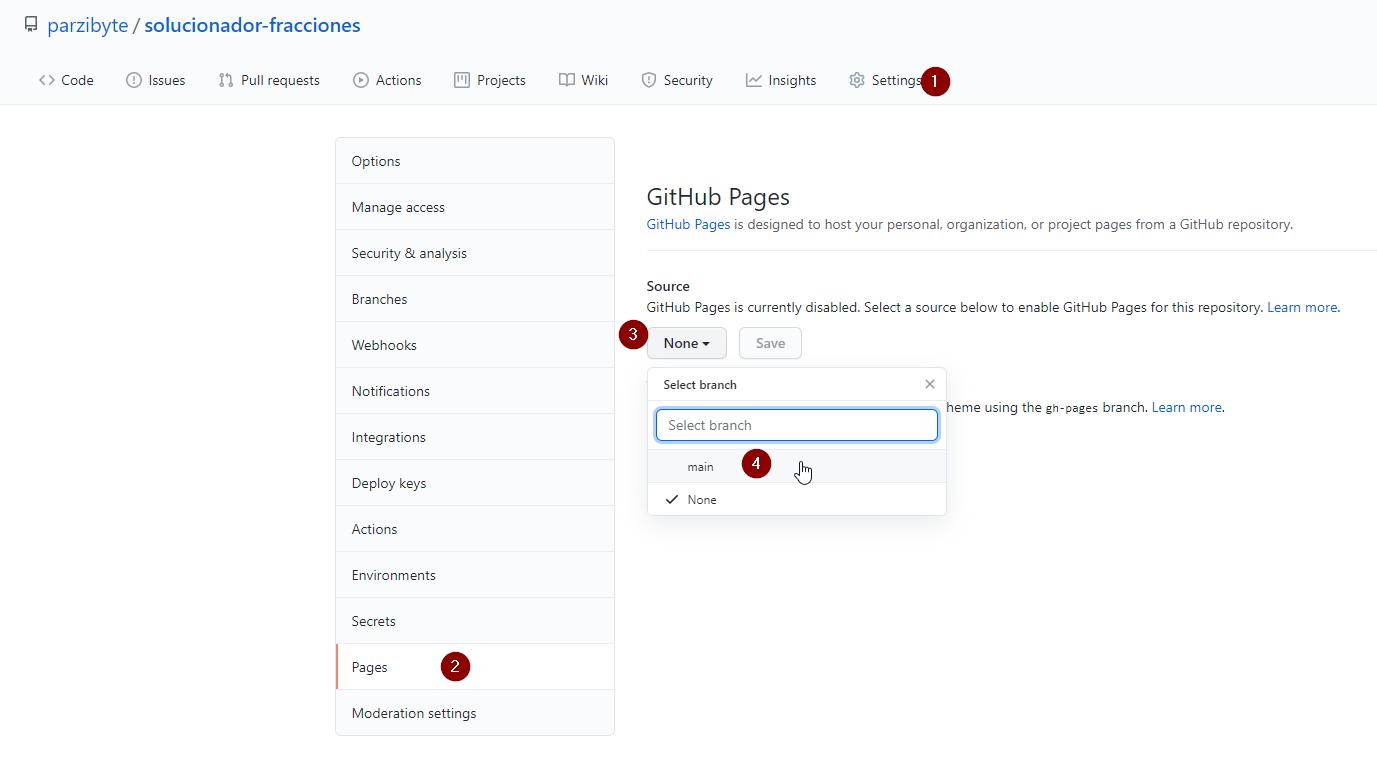 Publicar aplicación web en GitHub usando GitHub Pages