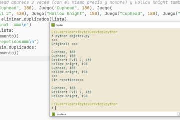 Remover objetos repetidos de lista en Python