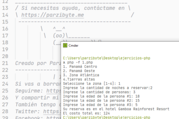 Ejercicio para selección de zona turística con PHP