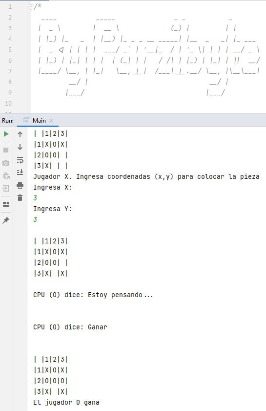 Hacer que CPU elija coordenadas para el juego de Gato en Java