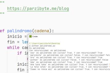 Palíndromo recursivo y con while en Python - Programación